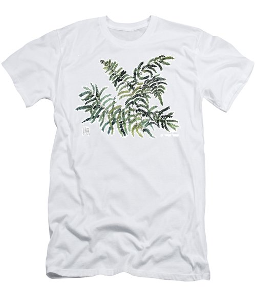Woodland Maiden Fern Men's T-Shirt (Slim Fit) by Laurie Rohner