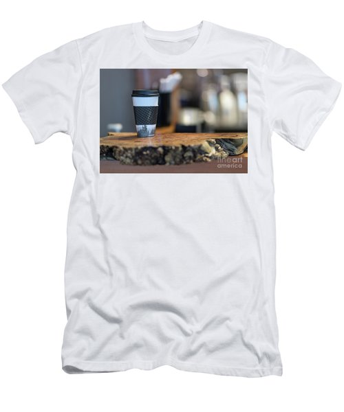 Men's T-Shirt (Slim Fit) featuring the photograph Woods Coffee by Jim  Hatch