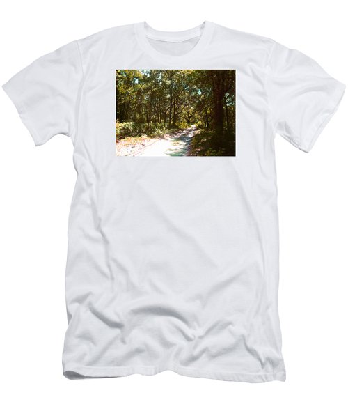 Woodsy Trail Men's T-Shirt (Slim Fit) by Ginny Schmidt