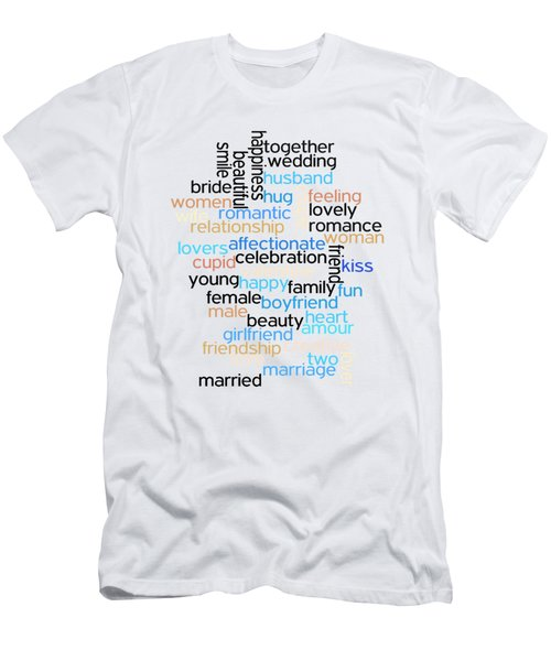 Men's T-Shirt (Slim Fit) featuring the drawing Words Of Love by Bill Cannon
