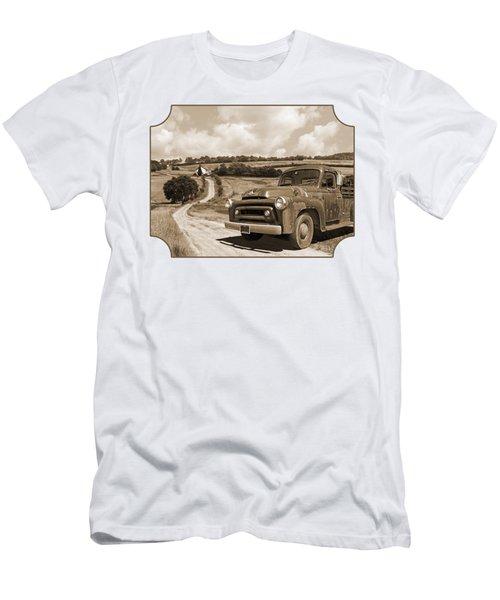 Down On The Fram - International Harvester In Sepia Men's T-Shirt (Athletic Fit)