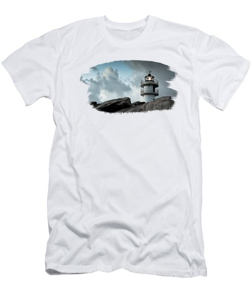 Working Lighthouse Isolated On White Men's T-Shirt (Athletic Fit)