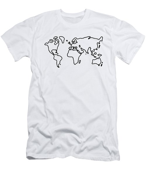 World Globe Men's T-Shirt (Athletic Fit)