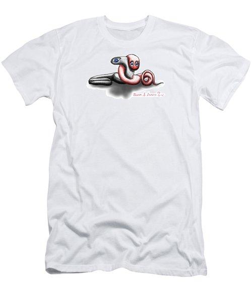 Worm Hug. Men's T-Shirt (Athletic Fit)
