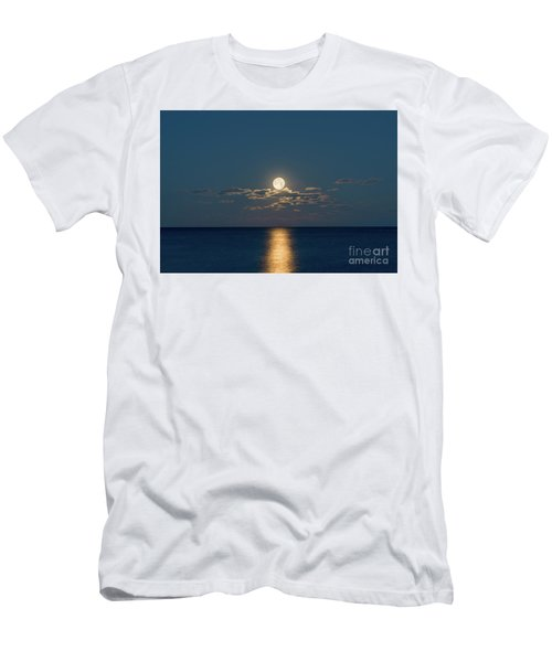 Worm Moon Over The Atlantic Men's T-Shirt (Athletic Fit)
