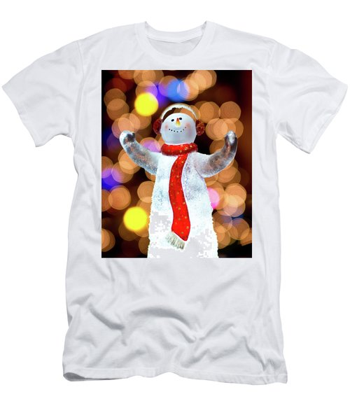 Worshiping Snowman Men's T-Shirt (Athletic Fit)
