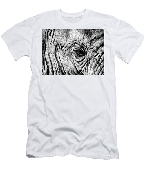 Wrinkled Eye Men's T-Shirt (Slim Fit) by Douglas Barnard