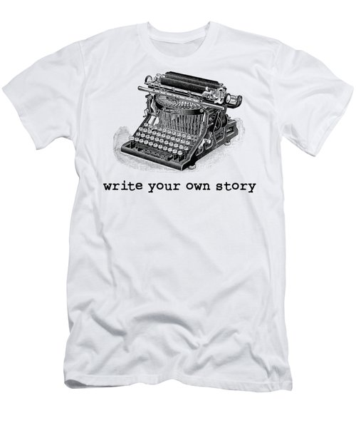 Write Your Own Story T-shirt Men's T-Shirt (Slim Fit) by Edward Fielding