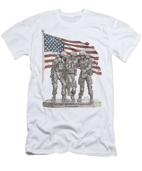 Men's T-Shirt (Athletic Fit) featuring the drawing Wwbnw by Betsy Hackett
