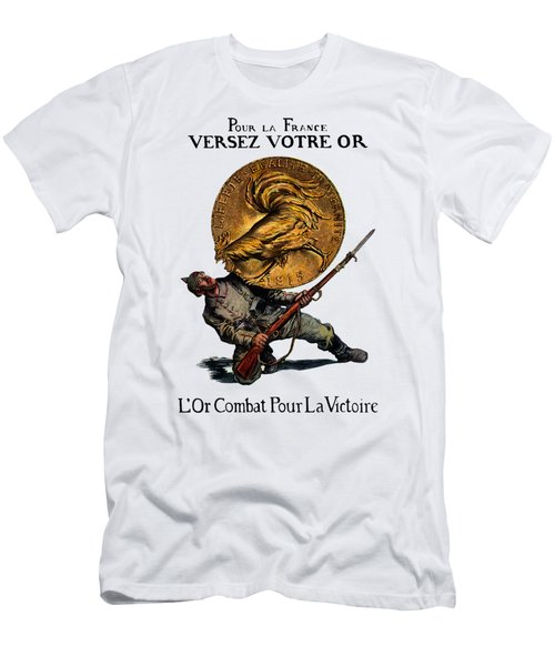 Wwi Gold For French Victory Men's T-Shirt (Athletic Fit)