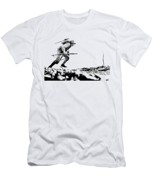 Wwii Marine Crosses Death Valley Okinawa Men's T-Shirt (Athletic Fit)