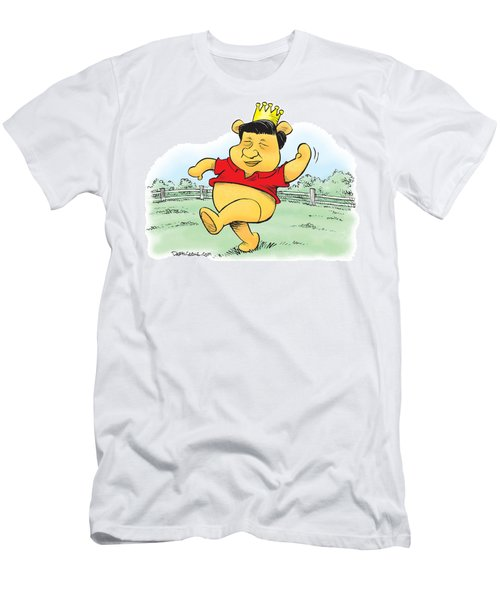 Xi The Pooh Men's T-Shirt (Athletic Fit)