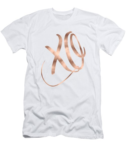 Xo, Rose Gold Men's T-Shirt (Athletic Fit)