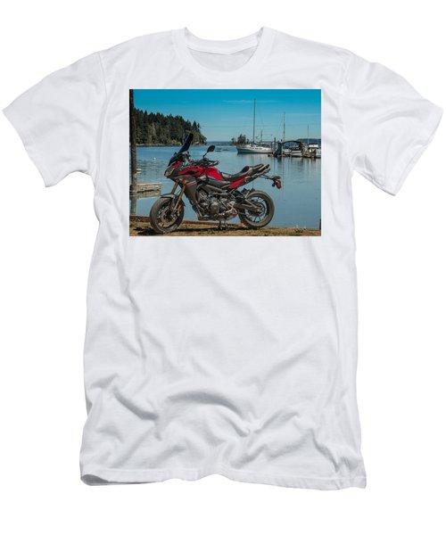 Men's T-Shirt (Slim Fit) featuring the photograph Yamaha Fj-09 .6 by E Faithe Lester