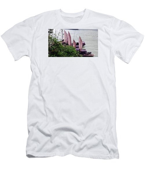 Yangtze Boats Men's T-Shirt (Slim Fit) by Vicky Tarcau