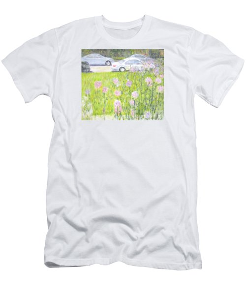 Yard Flowers  In Chicago Men's T-Shirt (Athletic Fit)