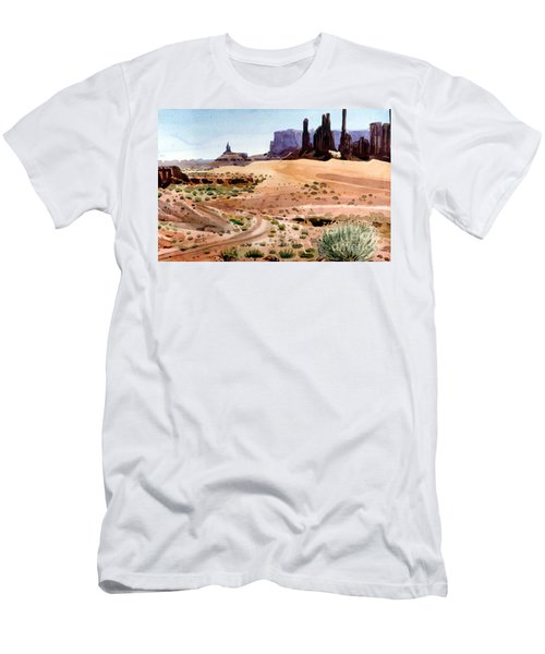 Yei Bi Chei And Totem Poles Men's T-Shirt (Slim Fit) by Donald Maier