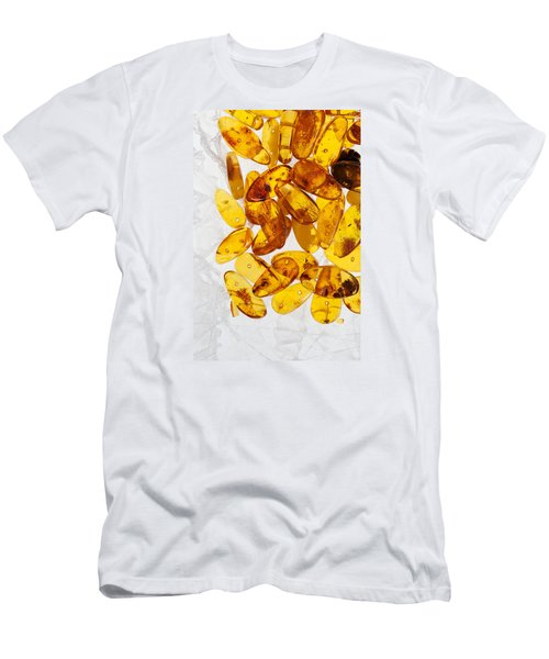 Men's T-Shirt (Slim Fit) featuring the photograph Yellow Amber Stones  by Andrey  Godyaykin