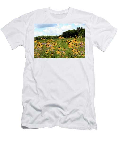 Yellow Cone Flowers Men's T-Shirt (Athletic Fit)