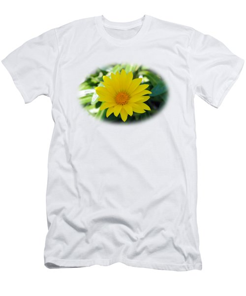 Yellow Flower T-shirt Men's T-Shirt (Athletic Fit)