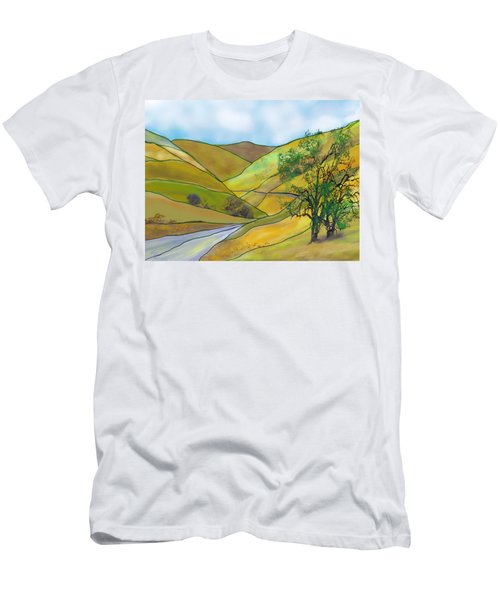 Yellow Foothills Men's T-Shirt (Athletic Fit)