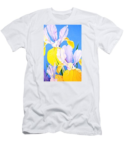 Yellow Irises-posthumously Presented Paintings Of Sachi Spohn  Men's T-Shirt (Slim Fit)
