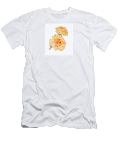 Men's T-Shirt (Athletic Fit) featuring the painting Yellow Roses by Beatrice Cloake