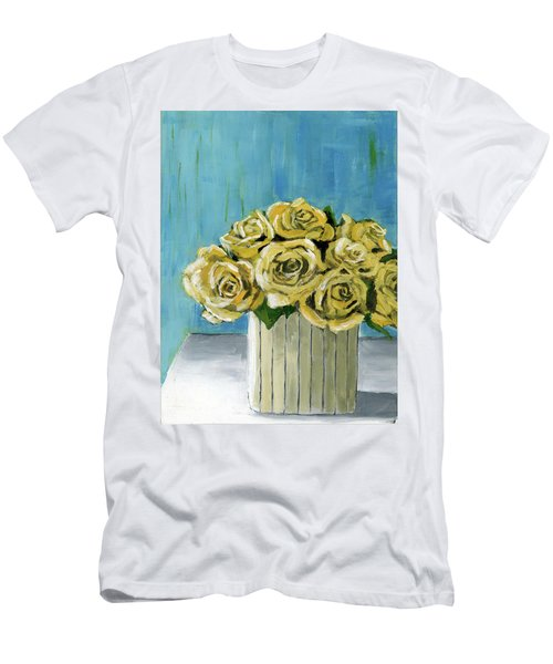 Yellow Roses In Vase Men's T-Shirt (Athletic Fit)
