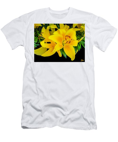 Yellow Tiger Lily In The Spring Men's T-Shirt (Athletic Fit)