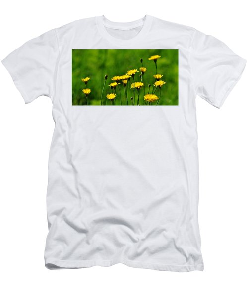 Yellow Wildflowers Men's T-Shirt (Athletic Fit)