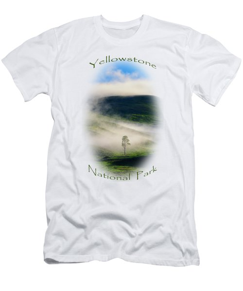 Yellowstone T-shirt Men's T-Shirt (Slim Fit) by Greg Norrell