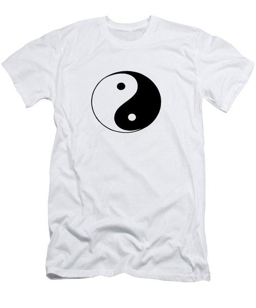 Yin And Yang Men's T-Shirt (Slim Fit) by Pat Cook