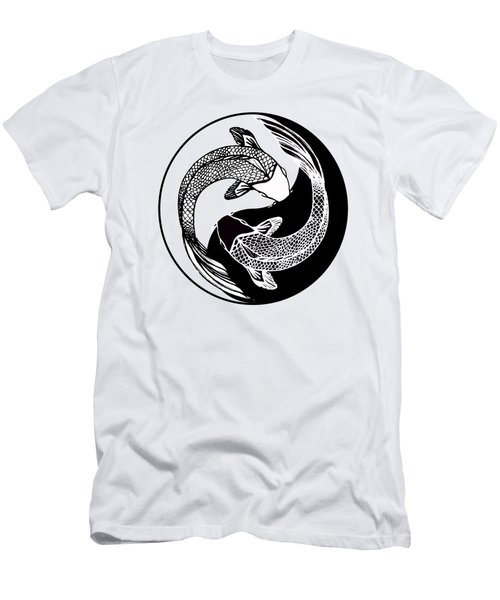 Yin Yang Fish Men's T-Shirt (Slim Fit)