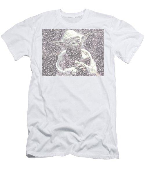 Yoda Quotes Mosaic Men's T-Shirt (Slim Fit) by Paul Van Scott