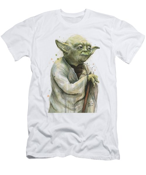 Yoda Watercolor Men's T-Shirt (Athletic Fit)