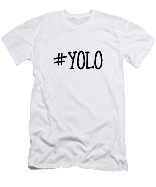 #yolo Men's T-Shirt (Slim Fit) by Clare Bambers