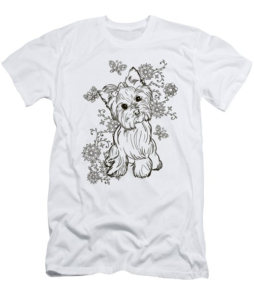Yorkie Terrier Men's T-Shirt (Athletic Fit)