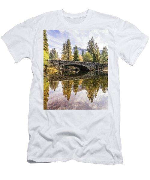 Yosemite Reflections Men's T-Shirt (Slim Fit) by Alpha Wanderlust