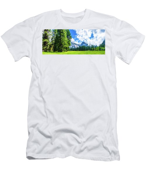 Yosemite Valley And Half Dome Digital Painting Men's T-Shirt (Athletic Fit)