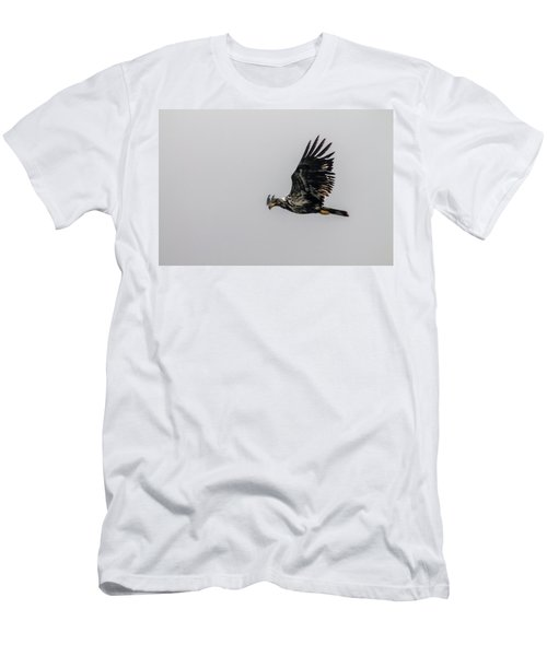Men's T-Shirt (Slim Fit) featuring the photograph Young Eagle In Flight 07 by Timothy Latta