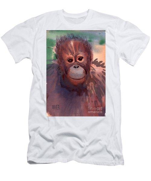 Young Orangutan Men's T-Shirt (Slim Fit) by Donald Maier