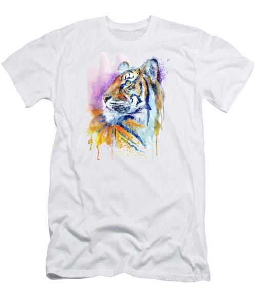 Young Tiger Portrait Men's T-Shirt (Athletic Fit)
