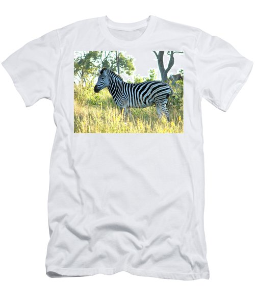Young Zebra Men's T-Shirt (Slim Fit) by Bruce W Krucke