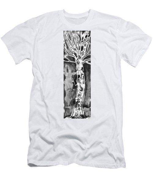 Men's T-Shirt (Slim Fit) featuring the painting Youth by Carol Rashawnna Williams