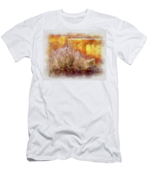 Yucca And Adobe In Aquarelle Men's T-Shirt (Athletic Fit)