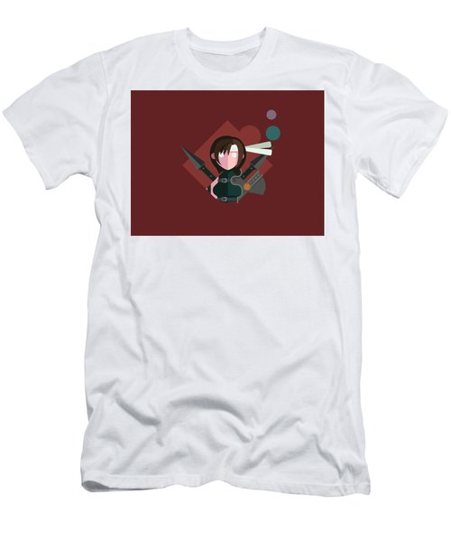 Men's T-Shirt (Slim Fit) featuring the digital art Yuffie by Michael Myers