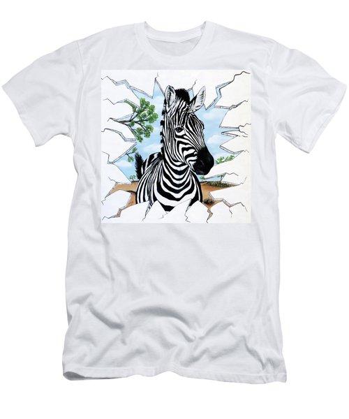 Zany Zebra Men's T-Shirt (Athletic Fit)