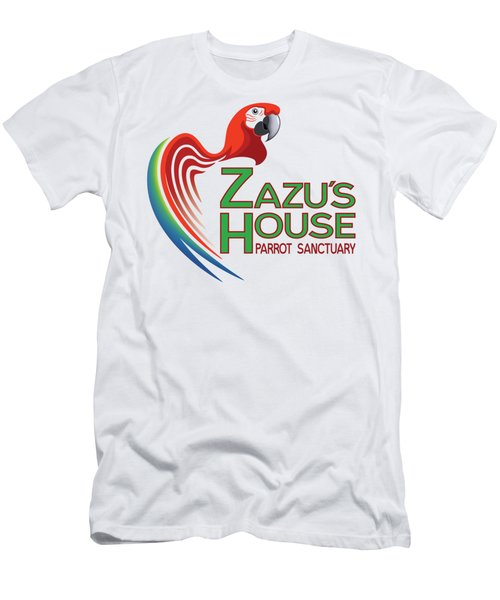 Zazu's House Parrot Sanctuary Men's T-Shirt (Slim Fit) by Zazu's House Parrot Sanctuary
