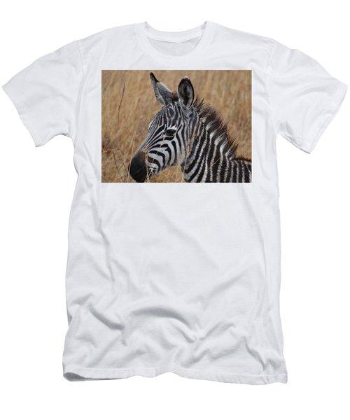 Zebra Half Shot Face On Right Side Men's T-Shirt (Athletic Fit)