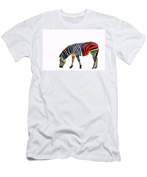 Men's T-Shirt (Slim Fit) featuring the photograph Zebra In My Dreams by Bonnie Barry